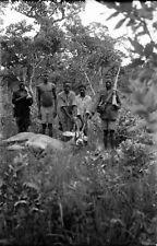RHODÉSIE c.1935 -Hommes Trophée Chasse Antilope Afrique - Négatif 9 x 6 - Rho 34