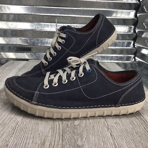 Clarks Collection Mens Canvas Blue Derby Lace Up Comfort Shoe Size 11.5
