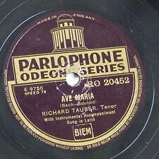 78 rpm RICHARD TAUBER Ave Maria/Händel-Largo