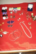 "Vintage Modern Jewelry Lot ""Silver/Gold Tone-costume-rings-earrings And more"""