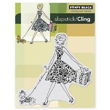 PENNY BLACK RUBBER STAMPS SLAPSTICK FASHION LEADER NEW cling STAMP
