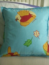 "NEW Made in Uk Cushion Cover Disney for 18"" Winnie the Pooh Light Blue"