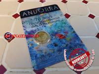 2 Euro CC Coincard BU Andorre 2018 - Anniversaire Droits de l'Homme NEUVE