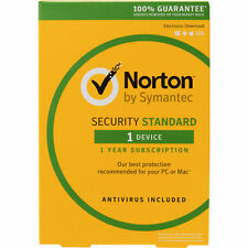 Norton Internet Security Standard 2018 Antivirus 1 User 1 Year Retail Symantec