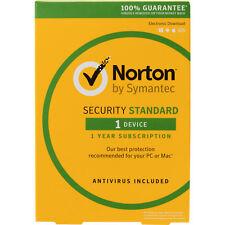 Symantec Norton Internet Security Standard 2017 Antivirus 1 User 1 Year Retail B