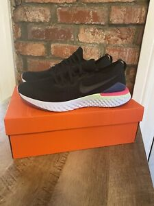 Nike Epic React Flyknit 2 BQ8928-003 Black White Sapphire Men's Running Shoes