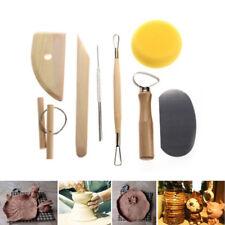 8 Pcs Pottery Tools Set Clay Sculpting Modeling Carving Ceramics Art Kit