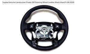 Toyota Genuine Landcruiser Prado 150 Steering Wheel Leather Black Used PLB1-0120