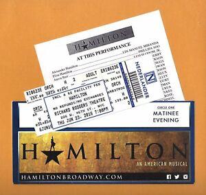 """Lin-Manuel Miranda """"HAMILTON"""" Leslie Odom, Jr. 2016 Broadway Envelope and Ticket"""