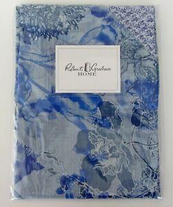 "Robert Graham Sketchbook Standard Sham 21""x 26"" Blue Floral Paisley SET of 2 NEW"