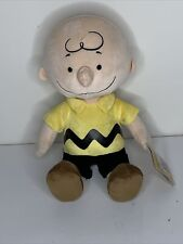 """Kohl's Cares Peanuts Charlie Brown Plush Stuffed Toy Doll 13"""" NWT"""