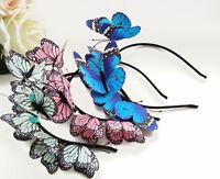 Women Lady Girl Fairy Butterfly Party hair head band headband Garland PROP Hoop