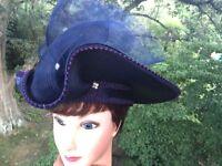 VINTAGE Antique Womens Easter Church Hat DIAMONDS & PEARL Wedding Kentucky Derby