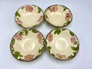"""4 Franciscan Desert Rose Bowls 6"""" Pink Floral Staffordshire England"""