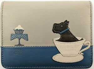 Radley London Scottie Dog And Cupcake Small Leather Card Holder Wallet Rare HTF!