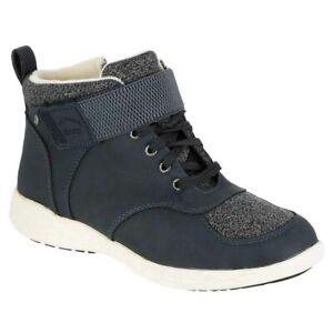 New Womens Sporto Hazel High Top Waterproof Winter Boot Shoe Navy - Pick Your Sz