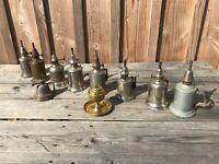 Lot de 10 lampes à essence anciennes Lampe pigeon Clamfort lampe huile vintage