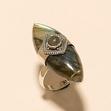 925Sterling Silver Designer Jewelry Natural Brazilian BlueFlame Labradprite Ring
