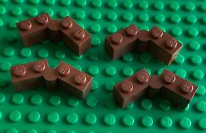 4 x LEGO Hinge 1 x 4 Swivel - Reddish Brown - Part 3830 / 3831 Castle - New