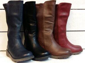 Ladies Heavenly Feet Ursula Knee High Zip Up Boots