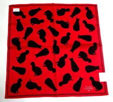 Laduree handkerchief scarf Bandana Pocket square Cotton Cats Red Auth New