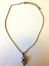 Mikey London Skull Silver Necklace Ladies, Brand New Fashion