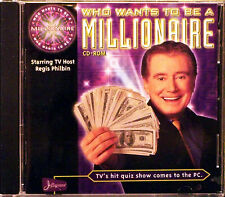 Who Wants to Be a Millionaire CD-ROM (PC, 1999) Starring TV Host Regis Philbin