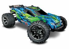 Traxxas Rustler 4x4 VXL Chassis 1:10 Roller ohne Elektronik grüne Karo + Reifen