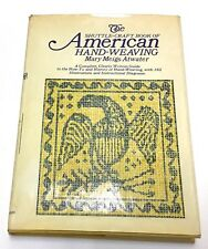 The Shuttlecraft Book of American Hand Weaving by Mary Meigs Atwater 1975