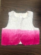 EUC Xhilaration Girls 10-12 Fuzzy Ombre Pink Vest