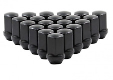 9/16-18 BLACK DODGE OEM LUG NUTS 20x RAM 1500 DURANGO DAKOTA RAIDER FACTORY LUGS