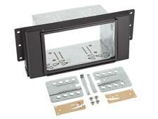 für Land Rover Discovery 3  Auto Radio Blende Einbau Rahmen Doppel-DIN schwarz