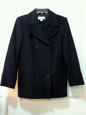 Vtg. PETITE SOPHISTICATE Navy Blue Peacoat Jacket - Size P- EUC