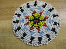 3 Inch Beaded Rosette Bead Bead Work Craft Non Native Sew On Red Bow Style 5 B