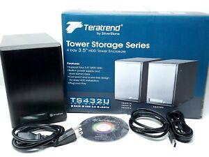 "SilverStone 4-Bay 3.5"" HDD RAID Tower Enclosure SATA USB Hard Drive (TS432U-V2)"