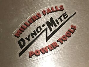 """Millers Falls Tools Dyno-Mite Decals on Clear reproduction 2"""" Wide Set 2"""