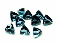 3MM TO 12MM AAA NATURAL LONDON BLUE TOPAZ TRILLION CUT FACETED LOOSE GEMSTONE