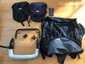 Phil & Teds Sport Inline Pram Accessories Capsule Adapter Sunshade Saddle Bags..