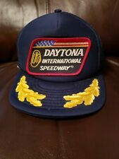 VINTAGE Daytona International Speedway Trucker Mesh HAT Patch NASCAR WINSTON