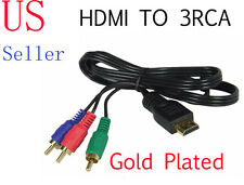 US Gold Plated HDMI To RCA Cable Wire Cord Adapter