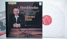 MENDELSSOHN Romances op.54/Rondo WERNER HAAS Philips  6500364 French sample LP