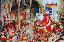 Vintage Santa and elves Christmas