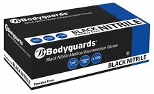 BODYGUARDS GL8972 MEDIUM P/F BLACK MEDICAL EXAMINATION NITRILE GLOVES QTY 100