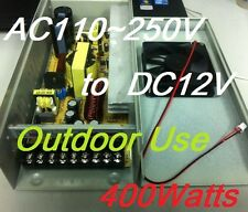 AC/DC Universal Outdoor Inverter Converter Supply 110 ~ 250V to 12V 400watts 33A