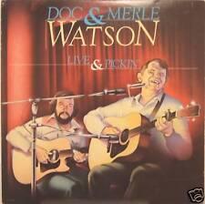 "DOC & MERLE WATSON ""LIVE AND PICKIN"" lp USA mint"