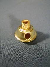 #1 Burner size Brass Oil Lamp adapter with Side Outlet for your Electric Cord