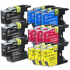 12 NEW  LC71 LC75 Ink Combo Fits Brother MFC-J280W MFC-J425W MFC-J430W MFC-J435w