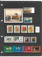St Kitts 1982-88 5 sets + min sheet MNH