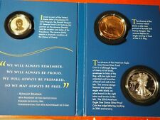 2016 S COIN & CHRONICLES REVERSE PROOF RONALD REAGAN SET 16PA W SILVER EAGLE