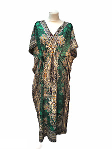 New Ladies Long floral Printed Kaftan Dress perfect for summer  FREE SIZE